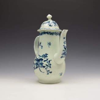 Liverpool Richard Chaffers Floral Mould Pattern Coffee Pot and Cover c1760 (4)