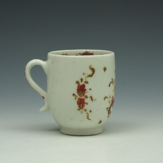 Lowestoft Rose and Cornucopia Pattern Coffee Cup c1785 (3)
