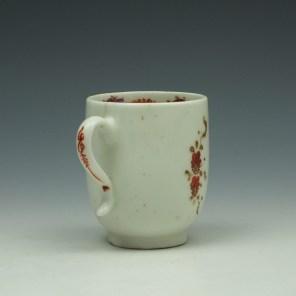 Lowestoft Rose and Cornucopia Pattern Coffee Cup c1785 (4)