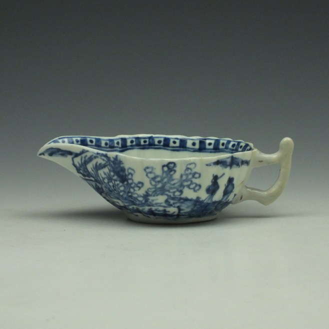 Vauxhall Two Men on a Rocky Island Pattern Butterboat c1757-62 (1)