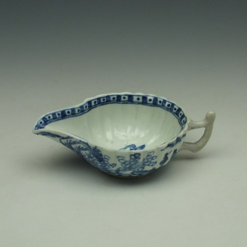 Vauxhall Two Men on a Rocky Island Pattern Butterboat c1757-62 (10)