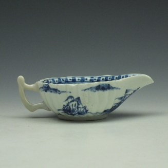 Vauxhall Two Men on a Rocky Island Pattern Butterboat c1757-62 (6)