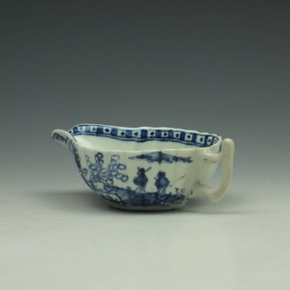 Vauxhall Two Men on a Rocky Island Pattern Butterboat c1757-62 (8)
