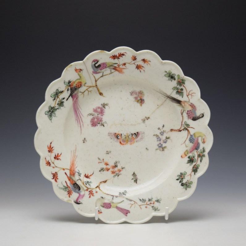 West Pans Floral Pattern Plate c1760-65 (1)