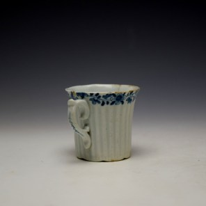 Worcester Early Ribbed Floral Border Pattern Coffee Cup c1754 (4)