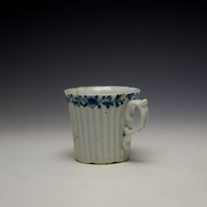Worcester Early Ribbed Floral Border Pattern Coffee Cup c1754 (5)