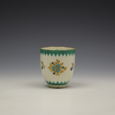 Worcester Green Floral Pattern Coffee Cup c1770 (2)