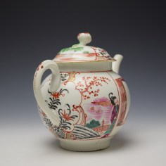 Worcester Mandarin Fish Monger Boy In the Window Pattern Teapot and Cover c1775-80 (6)