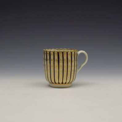 Blue and Gold Arrow and Dot Pattern Trio c1775-85 (1)
