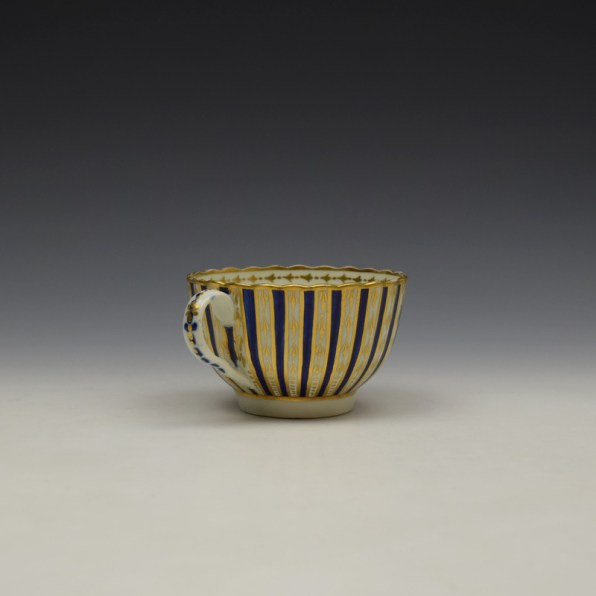 Blue and Gold Arrow and Dot Pattern Trio c1775-85 (10)