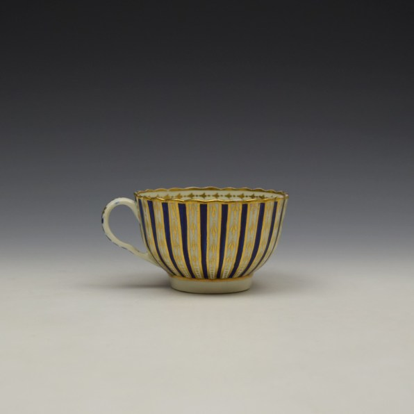Blue and Gold Arrow and Dot Pattern Trio c1775-85 (9)