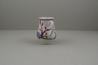 Bow Porcelain Mandarin Pattern Sparrow Beak Jug, C1760 (6)