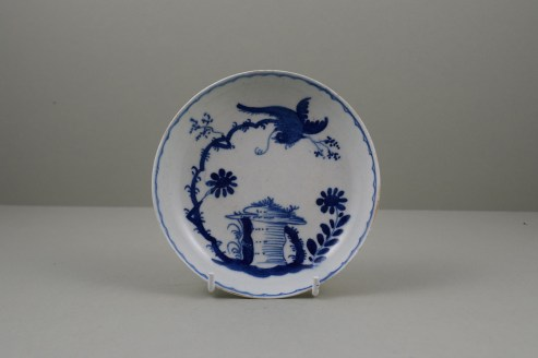 Bow Porcelain Bird and Rock Table Pattern Saucer, C1760 (1)