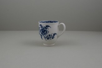 Caughley Porcelain Printed Peony Pattern Coffee Cup, C1778-85.7
