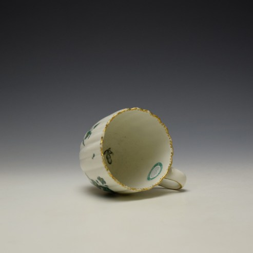 Chelsea Derby Giles Decorated Green Floral Pattern Fluted Coffee Cup c1769-75 (7)