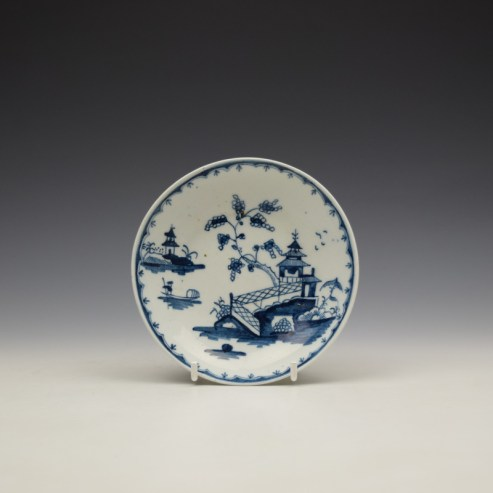 Lowestoft Chinese River Landscape Pattern Saucer c1767-72 (1)