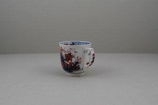 Lowestoft Porcelain Clobbered House and Landscape Pattern Coffee Cup, C1765-68 (6)