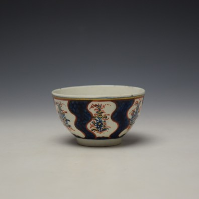 Lowestoft Clobbered Robert Browne Pattern Teabowl c1770-80 (2)