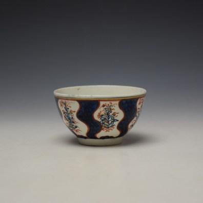 Lowestoft Clobbered Robert Browne Pattern Teabowl c1770-80 (4)