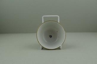 Lowestoft Porcelain Corn sprigs Pattern Teabowl, C1790-1800. 5
