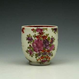 Lowestoft Curtis Pink and Purple Rose Pattern Coffee Cup c1785-95 (2)