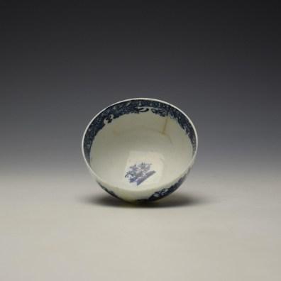 Lowestoft Dark Landscape Pattern Teabowl and Saucer c1790-1800 (5)