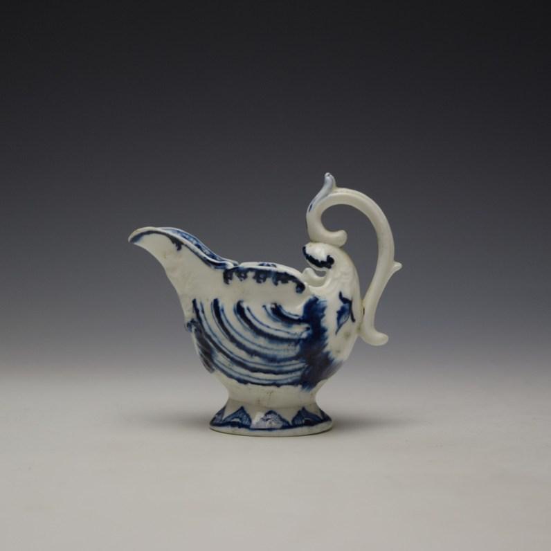 Derby Porcelain Moulded Dolphin Ewer c1770 (1)