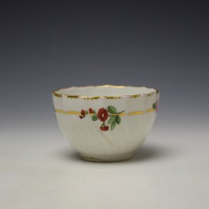 Derby Spirally Fluted Teabowl c1790 (4)