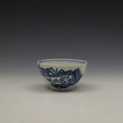 Lowestoft Dromedaries on a Raft Pattern Teabowl and Saucer c1770-80 (2)