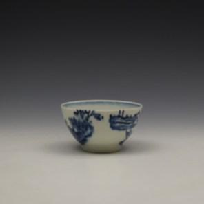 Lowestoft Dromedaries on a Raft Pattern Teabowl and Saucer c1770-80 (3)