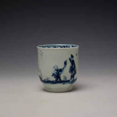 Worcester The Walk in a Garden Pattern Coffee Cup c1755-60 (3)