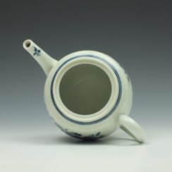 Worcester Fence Pattern Barrel Shape Teapot and Cover c1775 (7)