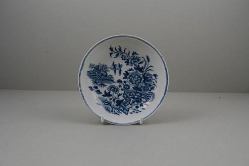 Worcester Porcelain Fence Pattern Teabowl and Saucer, C1765-80 (10)