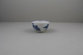 Worcester Porcelain Fence Pattern Teabowl and Saucer, C1765-80 (6)