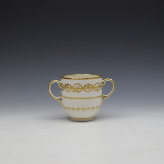 Derby Gilded Star Pattern Chocolate Cup and Stand c1782-1800 (2)