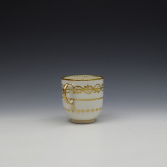 Derby Gilded Star Pattern Chocolate Cup and Stand c1782-1800 (3)