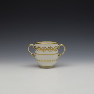 Derby Gilded Star Pattern Chocolate Cup and Stand c1782-1800 (5)