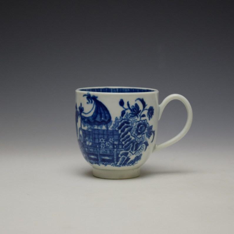 Worcester Fisherman Pattern Coffee Cup c1775-85 (1)