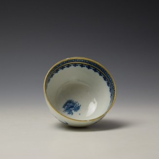 Caughley Fisherman Pattern Teabowl and saucer c1779-99 (6)