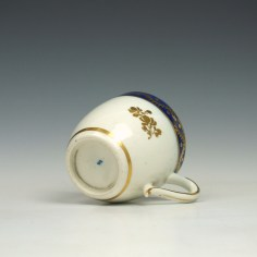 Caughley coffee cup and saucer c1790 (6)