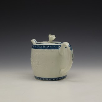 Worcester Floral Moulded Teapot and Cover c1760-70 (8)