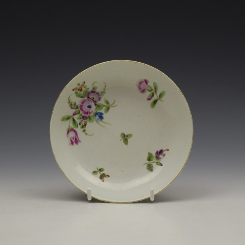Worcester Floral Pattern Coffee Cup and Saucer c1770-80 Ex Jean Lucas Collection (11)
