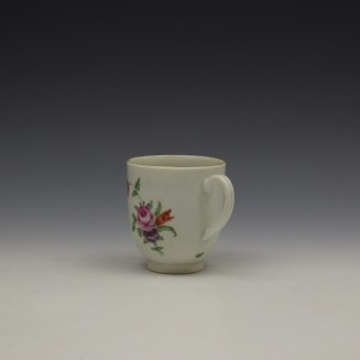Worcester Floral Pattern Coffee Cup and Saucer c1770-80 Ex Jean Lucas Collection (8)