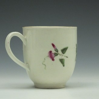 Worcester Porcelain Floral Pattern Coffee Cup c1775 (3)