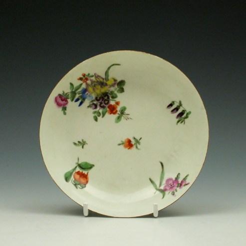 Worcester Floral Pattern Saucer c1770-75 (0)