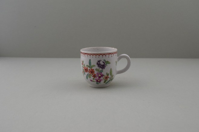 Bow Porcelain Flowers Pattern Coffee Cup, C1768-75. 1