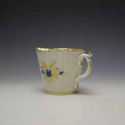 Caughley Gilded Floral Pattern Cream Jug c1785-95 (5)