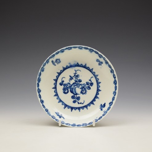 Caughley Fruit and Wreath Pattern Saucer c1778-88 (1)
