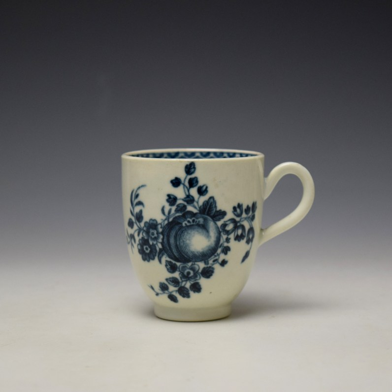 Worcester Fruit Sprigs Pattern Coffee Cup c1770-80 (1)