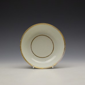 Worcester Gilded Band Pattern Trio c1775-85 (12)
